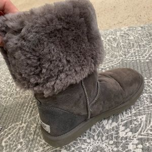 Charcoal tall UGG boots